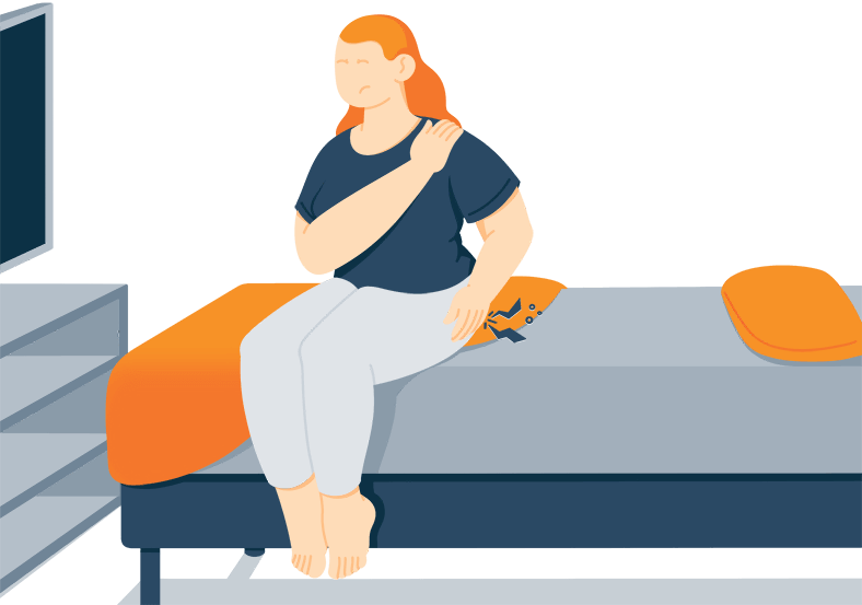 Illustration of a Lady Suffering from Hip Pain