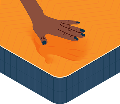 Medium Illustration of Memory Foam Mattress