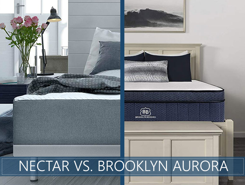 Our in depth comparison of nectar vs. aurora brooklyn mattress