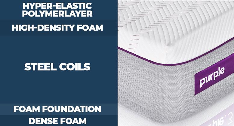 Purple- 2-3-4 mattress layers