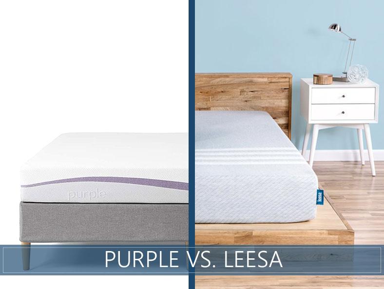 Purple vs Leesa Mattress Comparison