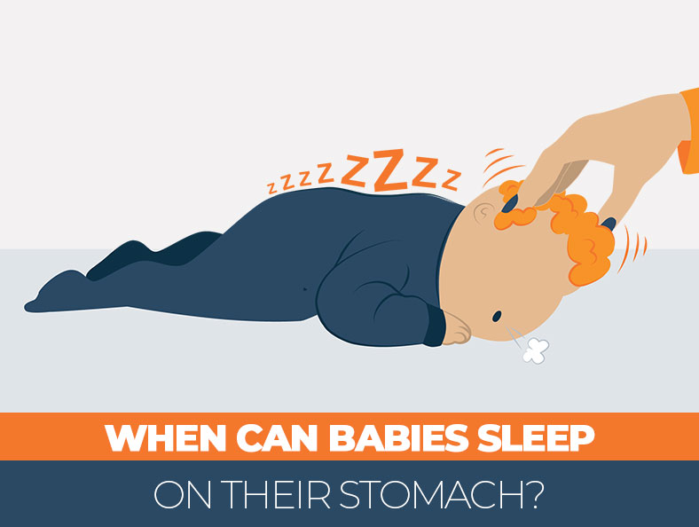 When is safe for a baby to sleep on the stomach