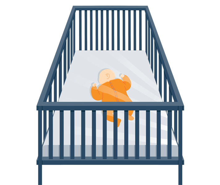 baby sleeping in a crib during naptime