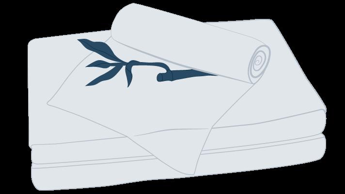 bamboo sheets illustration