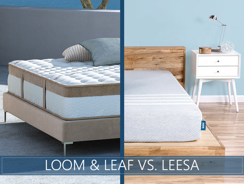 beds compared: loom & leaf and leesa