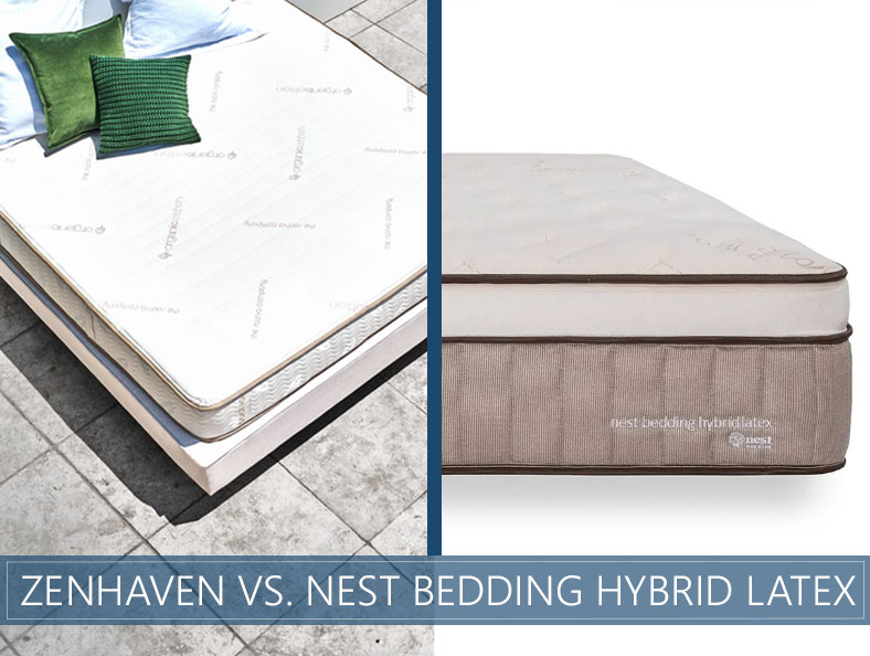 or comparison of zenhaven and nest bedding hybrid latex