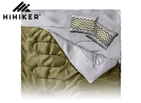 HiHiker Double Army green sleeping bag for camping small
