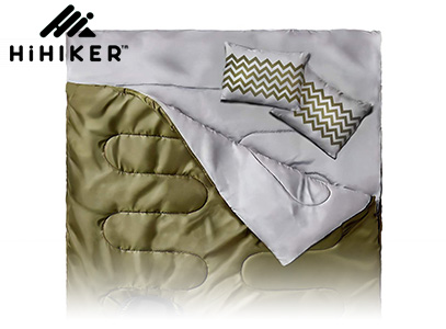 HiHiker Double Army green sleeping bag for camping