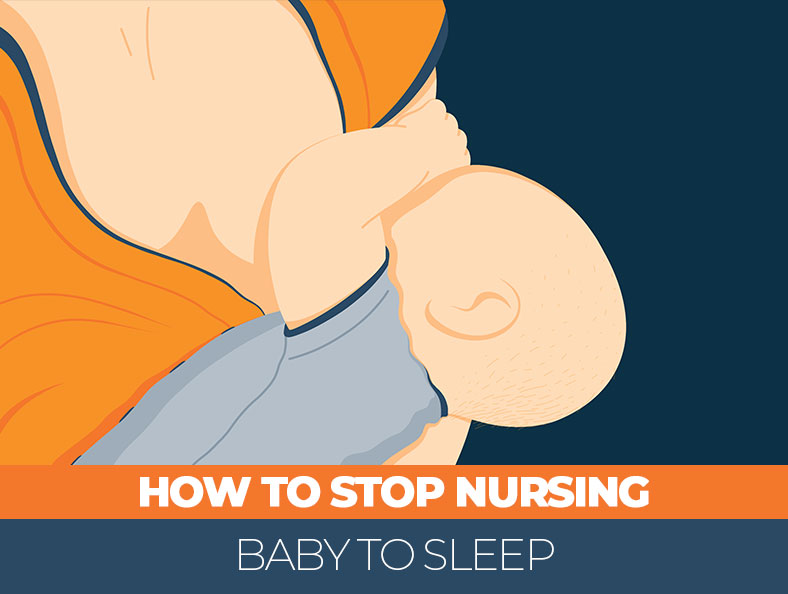 How can you stop nursing baby to sleep