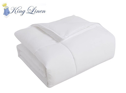 KingLinen product image of white down comforter