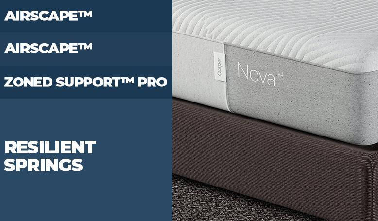 Layers of Casper Nova Hybrid Mattress