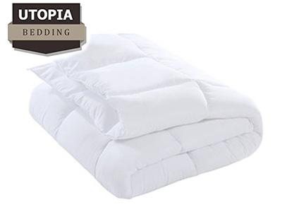 Product image of white alternative down comforter Utopia Bedding brand