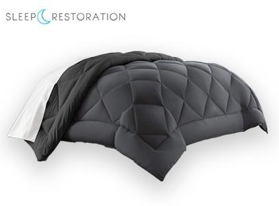Sleep Restoration product image of grey down alternative comforter