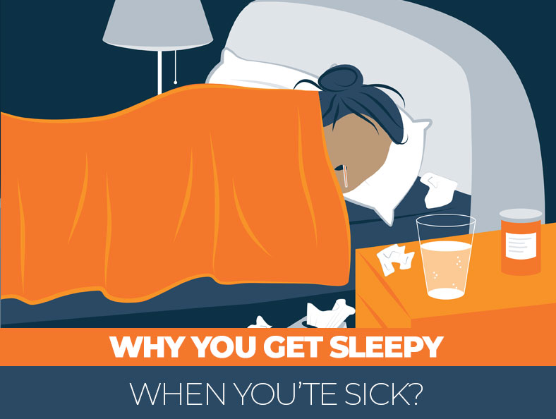 Why You're Sleepy When Sick