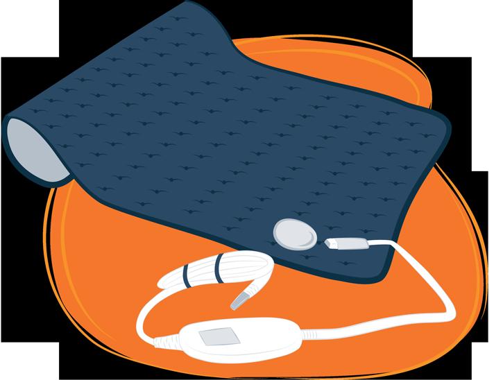 illustration of portable heating pad