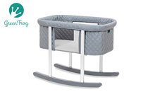 Gray bassinet green frog product image small