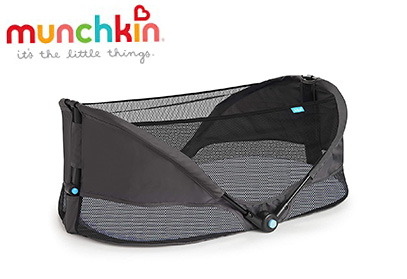 Munchkin Brica Fold N' Go Travel Bassinet, Grey product image small