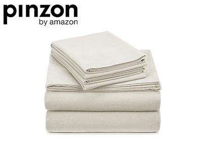 Pinzon Signature Cotton Heavyweight Velvet Flannel Sheet Set product image small