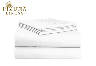 Product image of Pizuna linens white set sheets