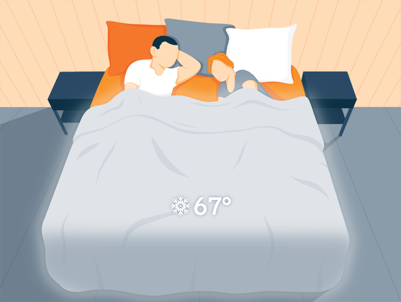 hot sleepers use breathable cotton sheets to keep them cool at night