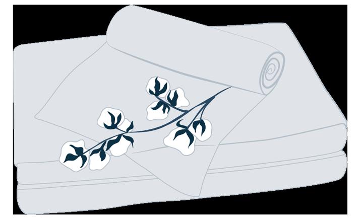 illustration of cotton sheets