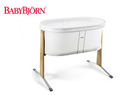 product image of white simple bassinet by baby bjorn small