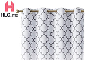 HLC.ME Lattice Print Decorative Blackout curatin product image small