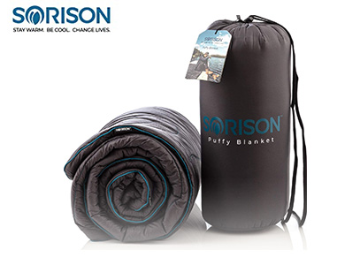 Product image of SORISON Large, Ultra Warm, Puffy Camping Blanket, Hammock Top Quilt and Stadium Blanket for Cold Weather