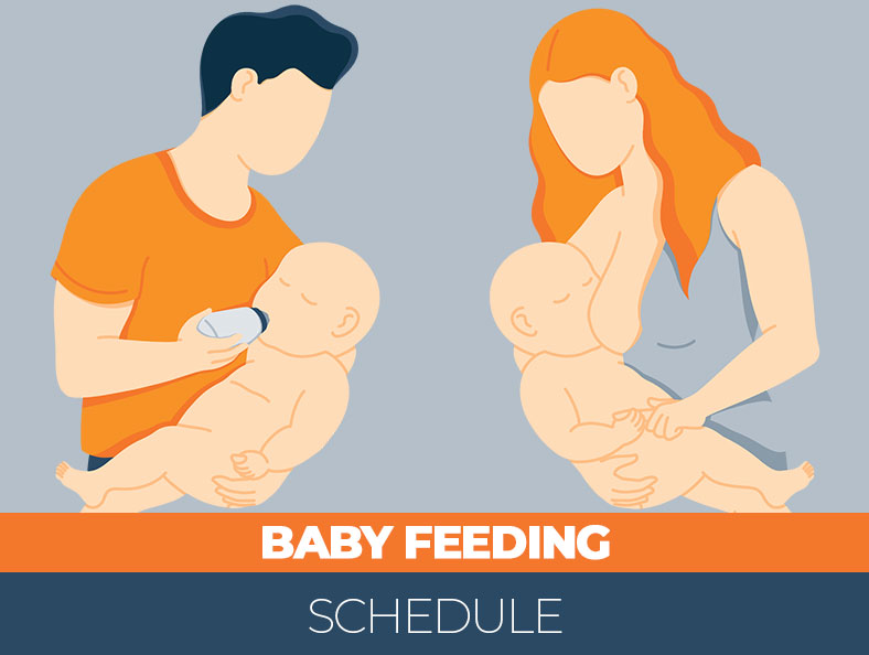 Tips for baby feeding schedule