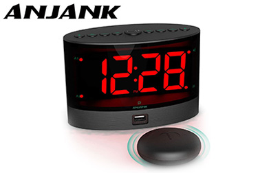 ANJANK Extra Loud Alarm Clock with Wireless Bed Shaker product image