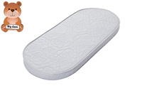 Big Oshi Waterproof Oval Baby Bassinet Mattress product image small