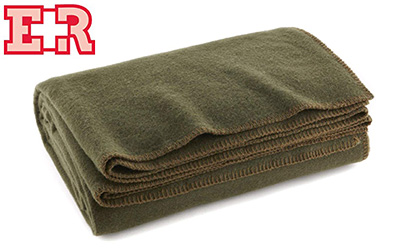 Ever Ready First Aid Olive Drab Green Warm Wool Fire Retardent Blanket product image small