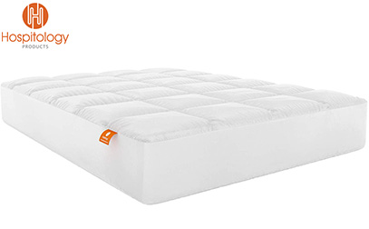 Hospitology Products Microfiber Quilted Mattress Pad