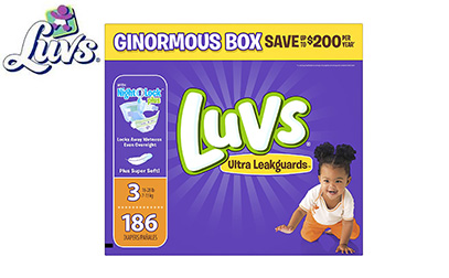 Product image of Luvs Ultra Leakguards Disposable Baby Diapers