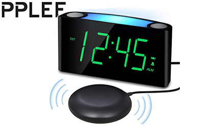 Vibrating Loud Alarm Clock with Bed Shaker for Heavy Sleepers product image