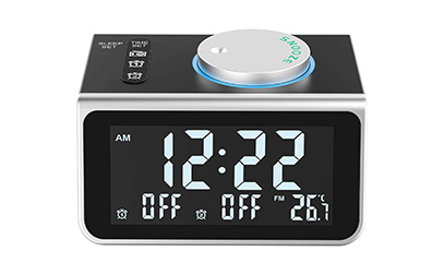product image LATME-Alarm-Clock-Radio-for-Heavy-Sleepers W Dual Alarms