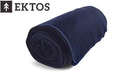 product image of EKTOS 100% Wool Blanket, Navy Blue