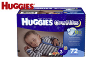 product image of Huggies OverNites Diapers, Size 3, Big Pack, 72 Count small