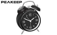 product image of Peakeep 4 inches Twin Bell Alarm Clock with Stereoscopic Dial small