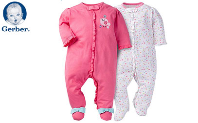 product image of gerber baby pajamas