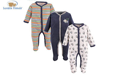 product image of luvable friends three pack pajamas
