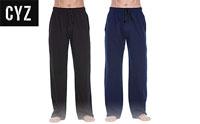 product image of cyz jersey knit pajamas small