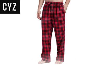 CYZ Men's 100% Cotton Super Soft Flannel Plaid Pajama Pants product image