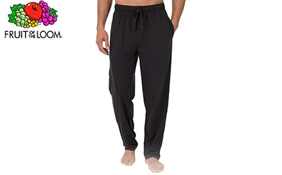 Fruit of the Loom Men's Extended Sizes Jersey Knit Sleep Pant product image