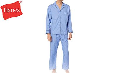 Hanes Men's Woven Plain-Weave Pajama Set product image  style=