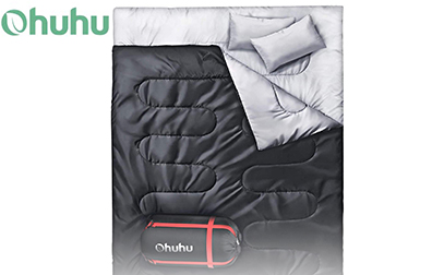 Ohuhu Double Sleeping Bag with 2 Pillows product image