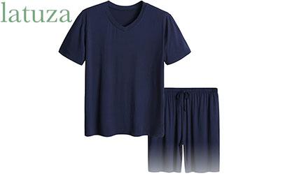 product image of Latuza Men's Short Sleeves and Shorts Pajama Set
