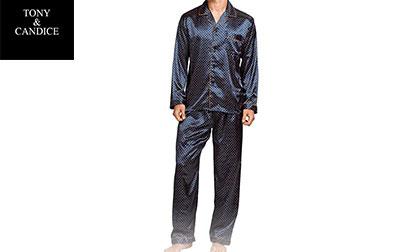 product image of TONY & CANDICE Men's Classic Satin Pajama
