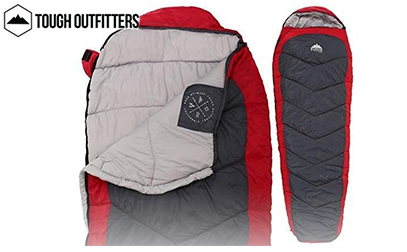 tough outdoors Mummy Sleeping Bag with Compression Sack product image small