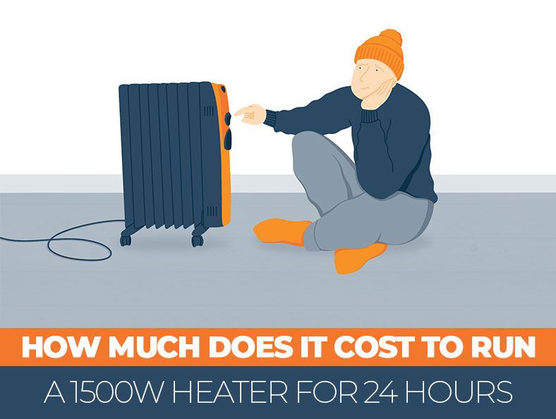 How Much Does It Cost to Run a 1500w Heater for 24h
